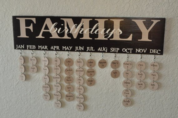 Family Birthdays Calendar.....these are the BEST Organization Ideas!