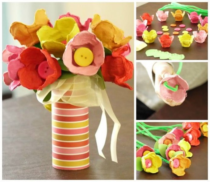 Egg Carton Tulips...a fun Spring Craft for the Kids!