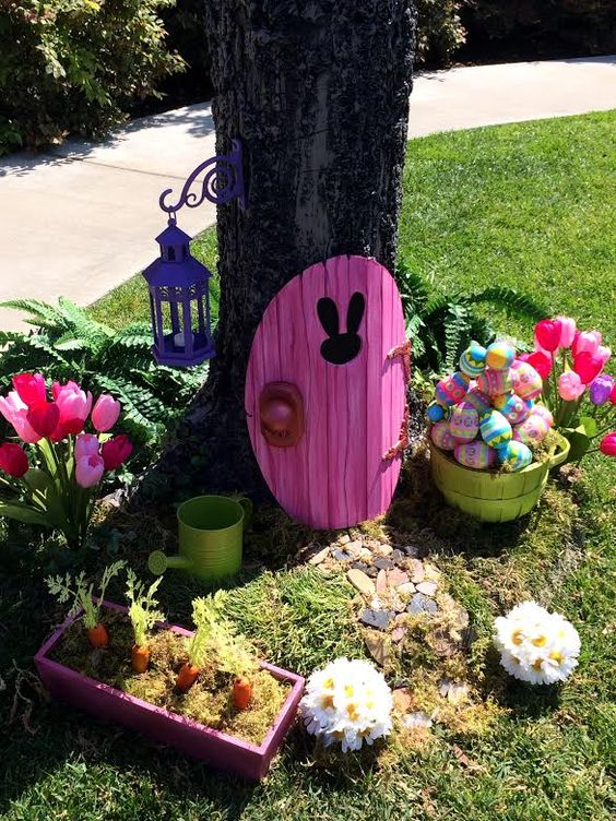 Easter Bunny Foam Garden Door Craft...so cute!