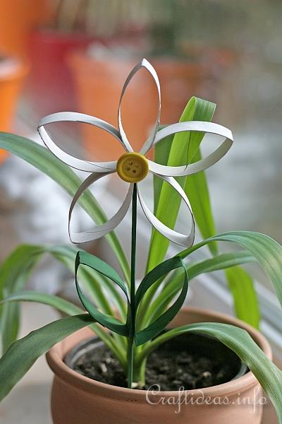 Cardboard Tube Spring Flowers Craft