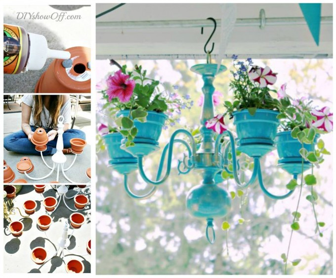 DIY Chandelier Planter for a fun Spring project!