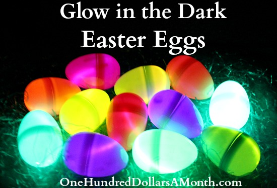 Glow in the Dark Easter Egg Hunt using Glow Sticks!
