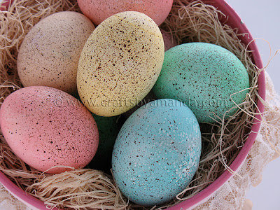 Speckled Painted Easter Eggs