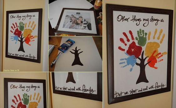 Family Tree Handprint Picture...Other things may change us, but we start and end with family