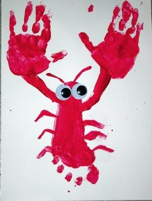 Hand & Footprint Lobster Art