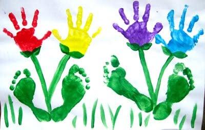 Hand & Foot Print Flowers