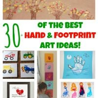 30+ of the BEST Hand & Footprint Art Ideas!