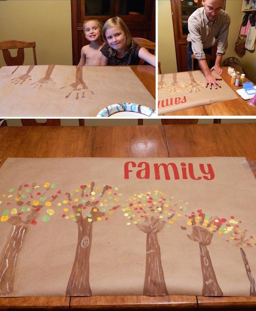 Family Handprint Tree Art
