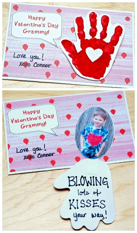 Valentines Day Handprint Card