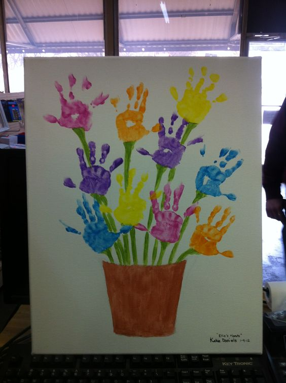 Handprint Flower Pot Art...a fun Mother's Day Gift!
