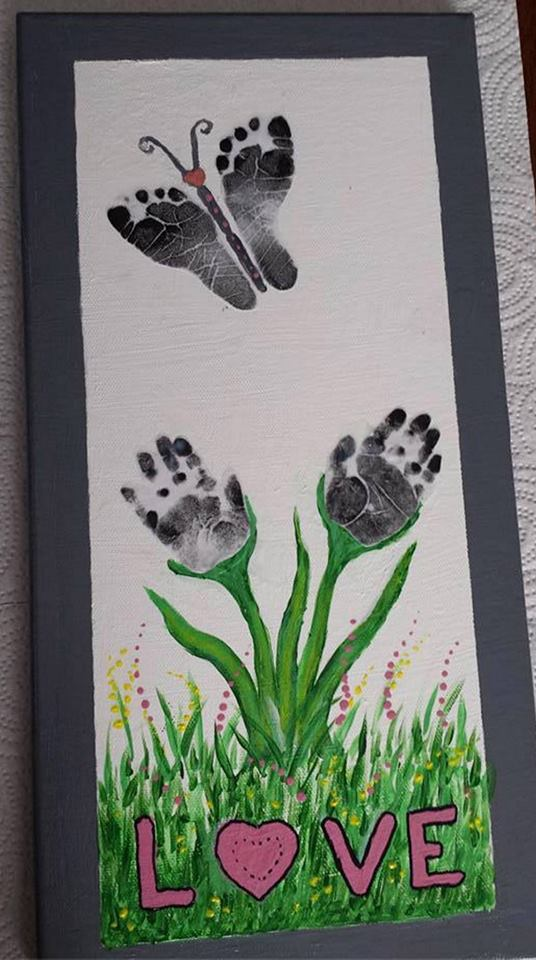 The best hand and footprint art ideas kitchen fun with for Butterfly hands craft