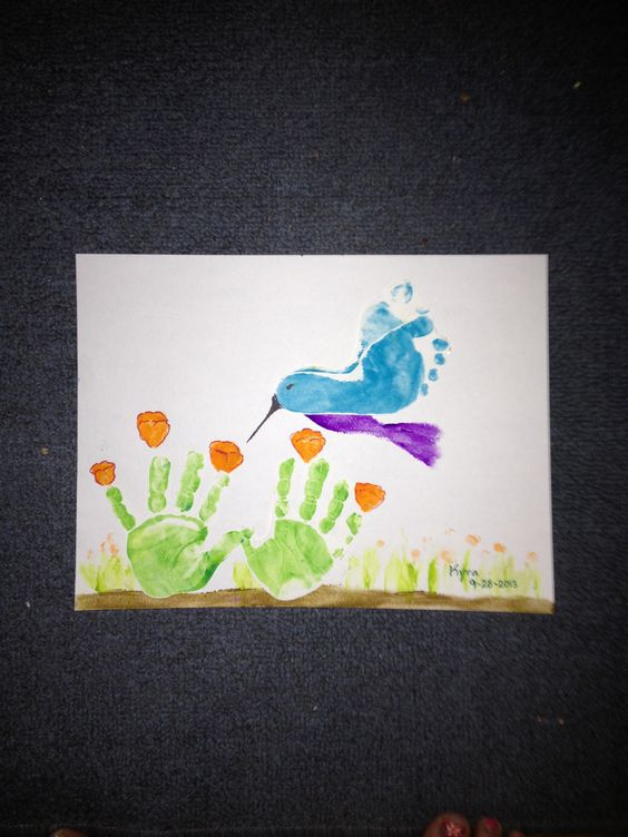 Handprint Flowers Footprint Bird These Are Adorable Hand Ideas