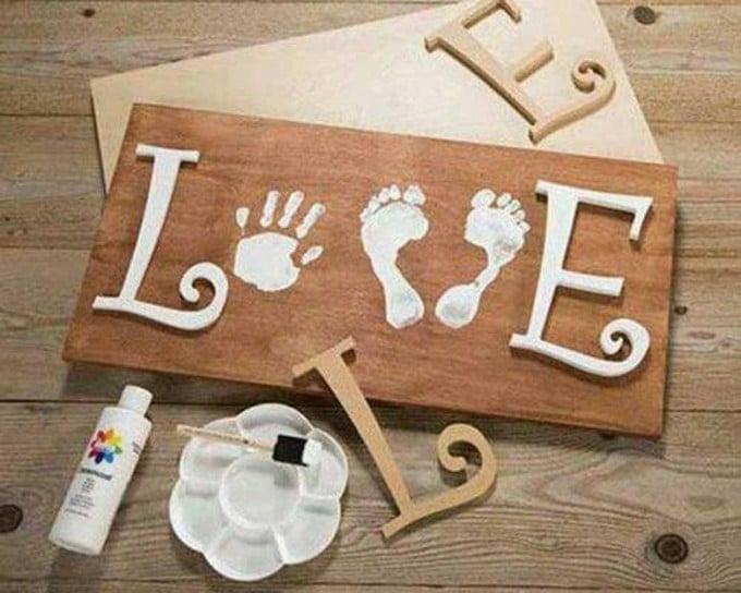 The best hand and footprint art ideas kitchen fun with - Regalos de cumpleanos originales hechos a mano ...