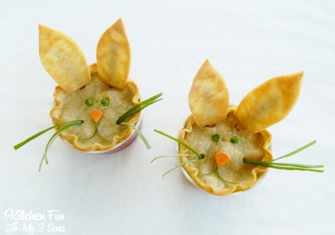 Easter Bunny Chicken Pot Pie From KitchenFunWithMy3Sons