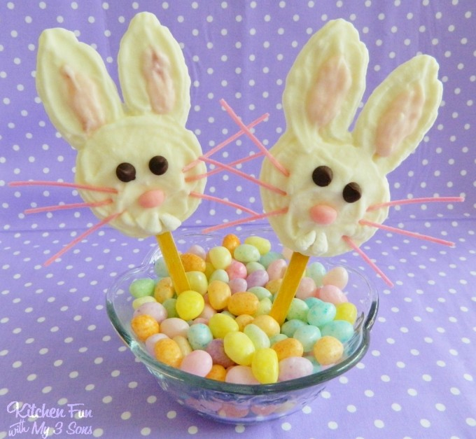 Easter Bunny Yogurt Pops...made with Chobani from KitchenFunWithMy3Sons.com