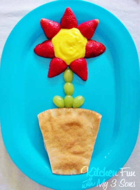 Spring Flower Pot Lunch from KitchenFunWithMy3Sons.com