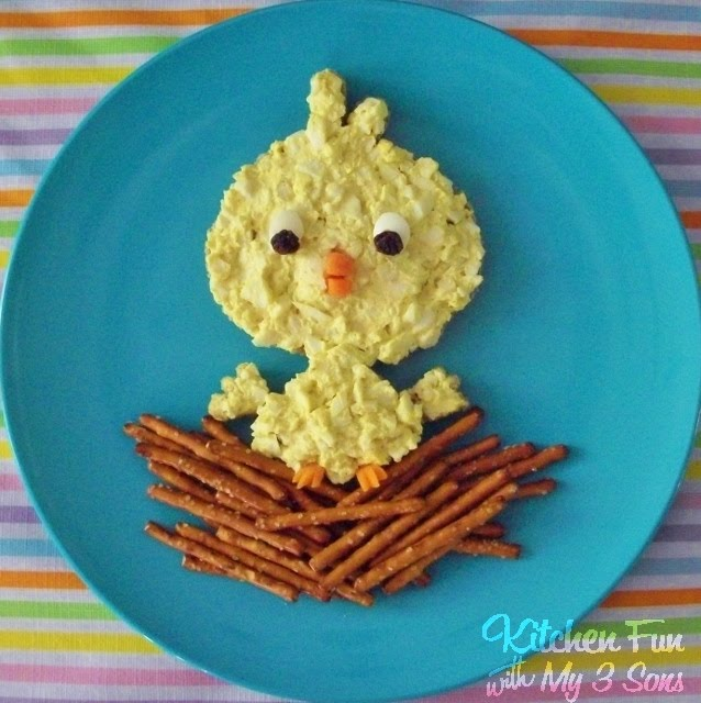 Baby Bird Egg Salad Lunch from KitchenFunWithMy3Sons.com