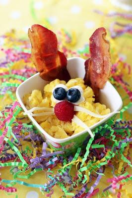 Easter Bunny Scrambled Egg Breakfast