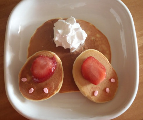 Bunny Butt Pancakes For Easter