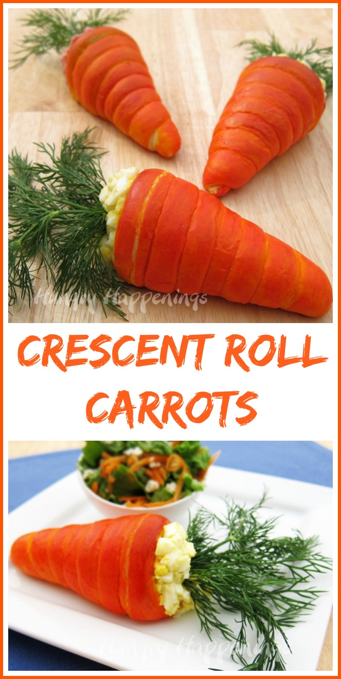 Crescent Roll Carrots for a fun Spring Lunch or Easter Brunch idea!