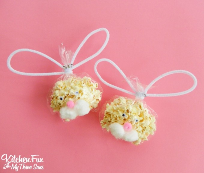Easter Bunny Popcorn Bagsa Fun Class Party Idea For The Kids