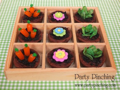Mini Brownie Garden Cupcakes