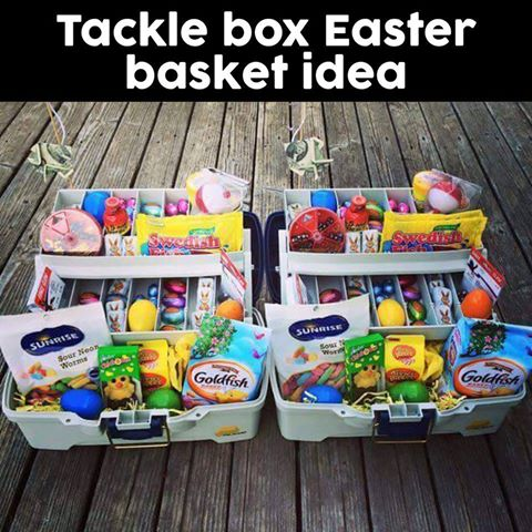 Tackle Box Easter Basket Idea!