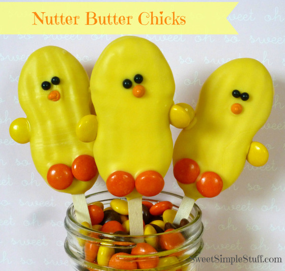 Nutter Butter Chick Cookies for Easter!
