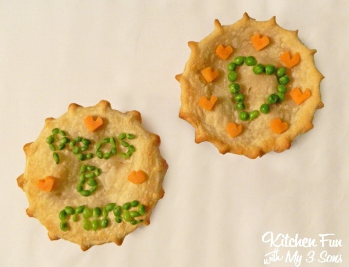 Valentine's Day Chicken Pot Pie from KitchenFunWithMy3Sons.com