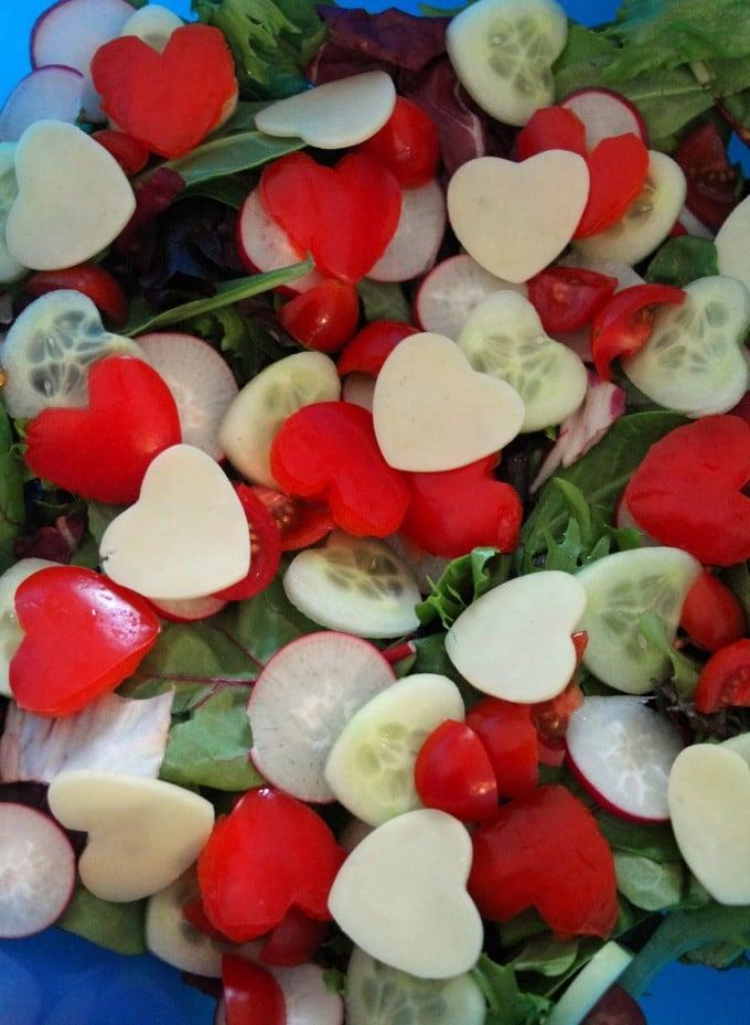 Valentine Heart Salad