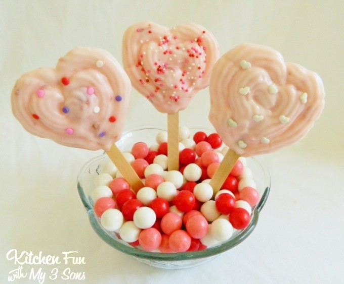 Valentine's Day Heart Yogurt Pops from KitchenFunWithMy3Sons.com