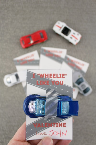 "I ""Wheelie"" Like You"" Hot Wheels Valentine"