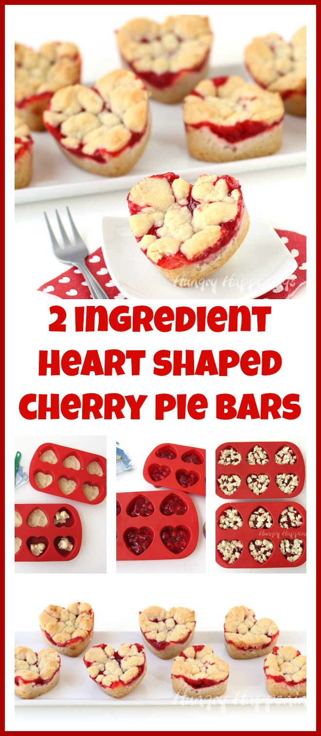 2-ingredient Heart Shaped Pie Bars for Valentines Day!