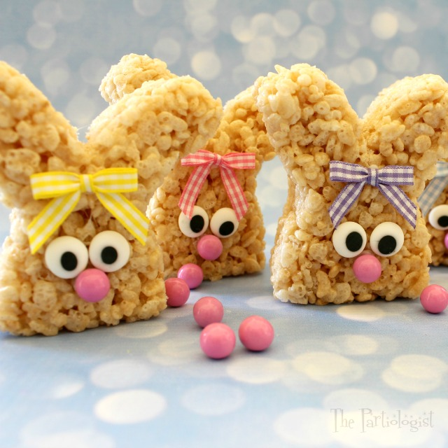 Easy Rice Krispie Treat Bunnies