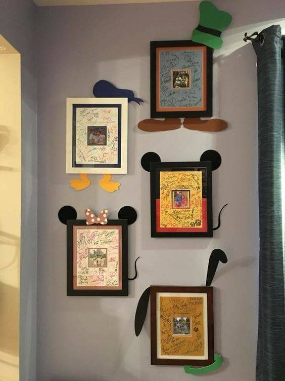 Disney Signature Frame idea...so cute!