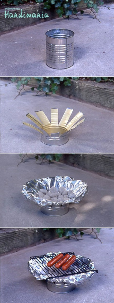 DIY Tin Can Camping Grill