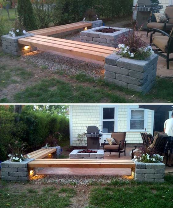 High Quality Garden Ideas With Wood. Diy Porch Bench Garden Ideas With Wood