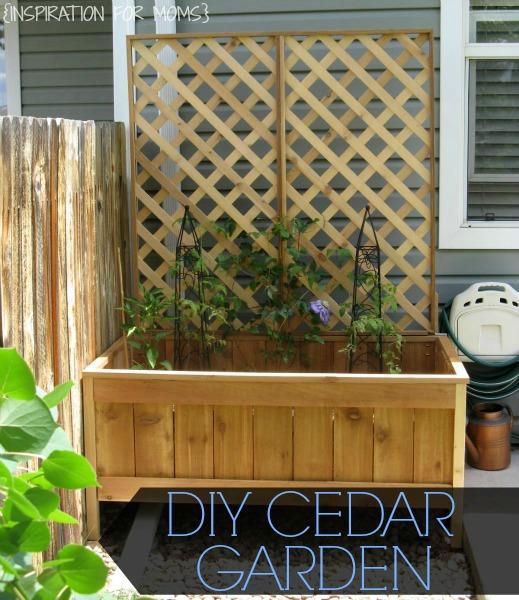 DIY Raised Cedar Garden Planter