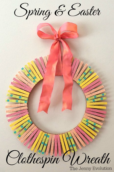 Spring Clothespin Wreath
