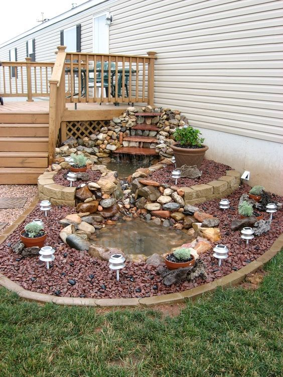 DIY Backyard Pond...these are the BEST Garden & Yard ideas!