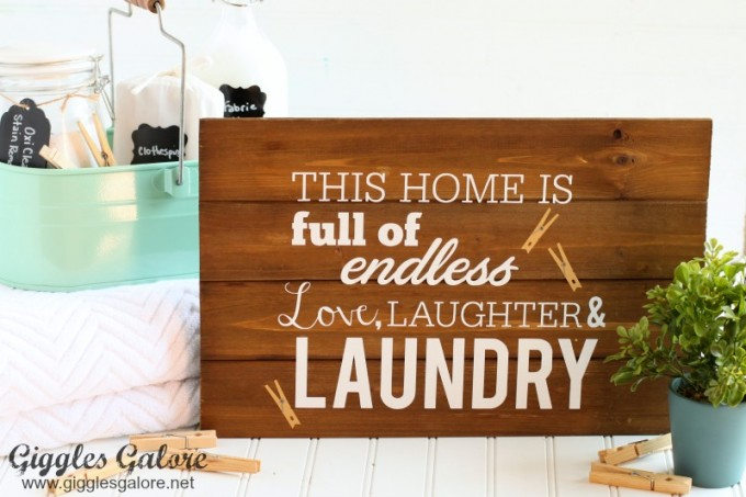 DIY Laundry Sign