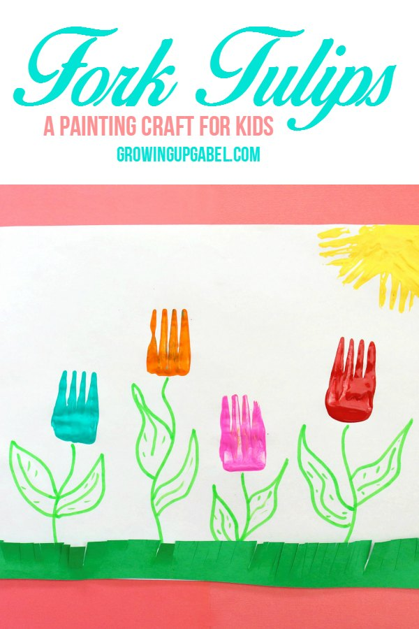 Painted Fork Tulips Craft for Kids