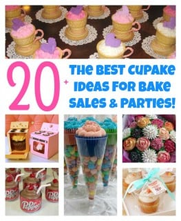 The BEST Cupcake Ideas for Bake Sales and Parties!