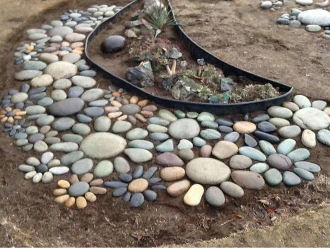 Garden Flower Rock Art