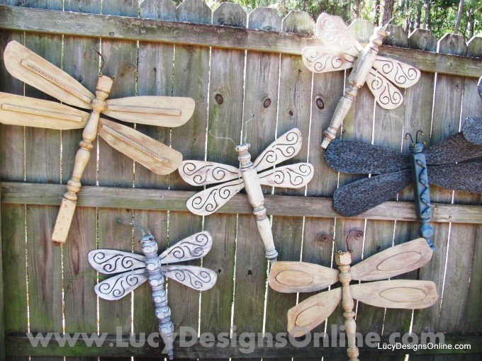 DIY Garden Dragon Flies