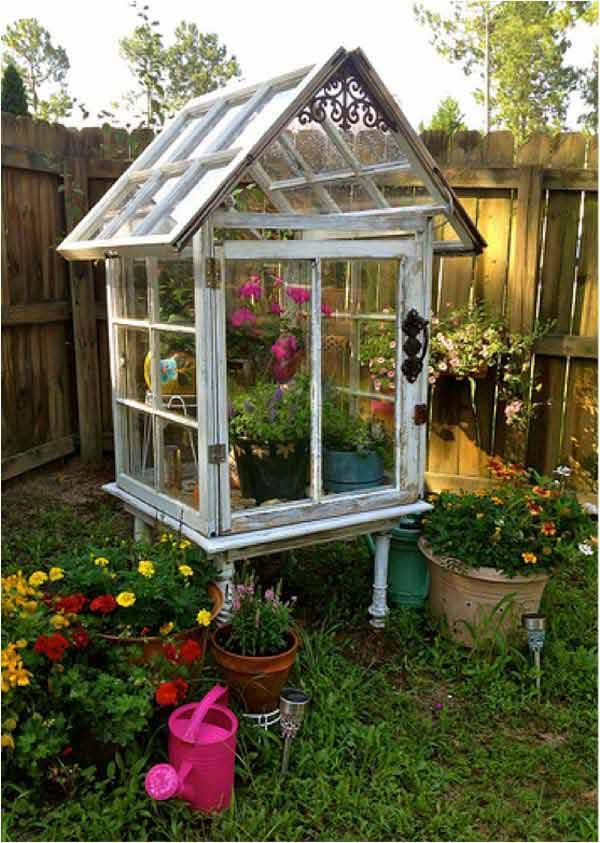 Diy Gardening Ideas gardening ideas diy garden obelisk Diy Greenhouse Using Old Windows