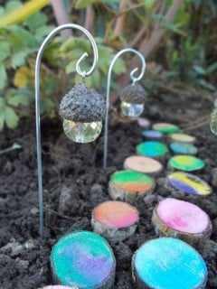 The best garden ideas and diy yard projects kitchen fun with my 3 acorn crystal fairy lights with a painted log walkway cute workwithnaturefo