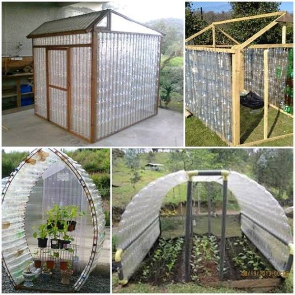 How to Build a Greenhouse out of Plastic Bottles! Awesome Garden Ideas!