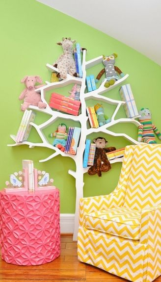 Tree Bookcase Reading Nook