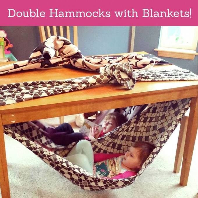 The best diy reading nook ideas kitchen fun with my 3 sons under the table double hammock made with blankets solutioingenieria Image collections